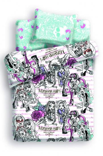 Фото - Комплект постельного белья полуторный Monster High Перемена купить в киеве на подарок, цена, отзывы