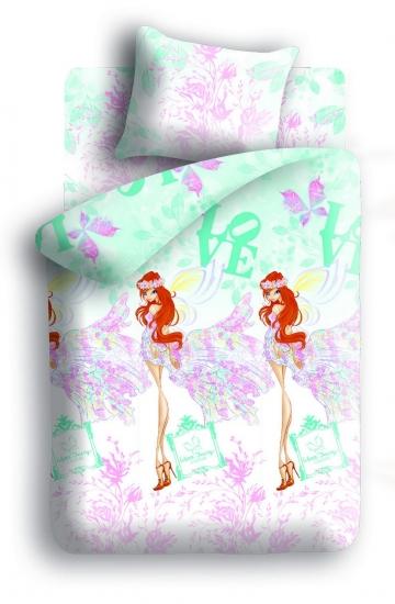 Фото - Комплект постельного белья полуторный Winx Fairy Couture Love купить в киеве на подарок, цена, отзывы