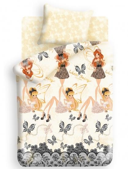 Фото - Комплект постельного белья полуторный Winx Fairy Couture Fairy купить в киеве на подарок, цена, отзывы