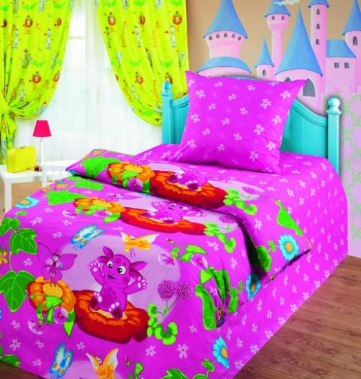 Фото - Комплект постельного белья полуторный Лунтик и бабочки купить в киеве на подарок, цена, отзывы