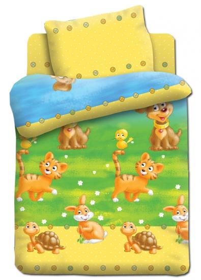 Фото - Постельное белье для детей в детскую кроватку Непоседа Энималс купить в киеве на подарок, цена, отзывы