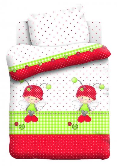 Фото - Постельное белье для детей в детскую кроватку Непоседа Божья коровка купить в киеве на подарок, цена, отзывы