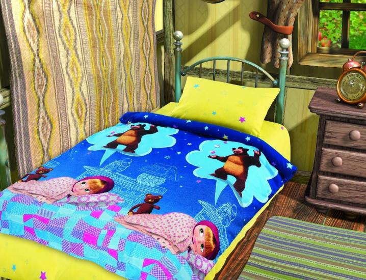 Фото - Постельное белье для детей Маша и Медведь Машин сон купить в киеве на подарок, цена, отзывы