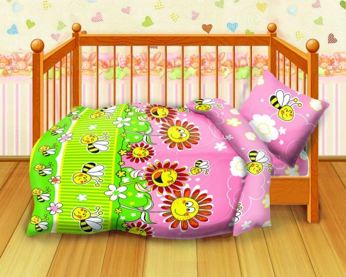Фото - Комплект постельного белья детский Кошки-мышки Пчелки купить в киеве на подарок, цена, отзывы