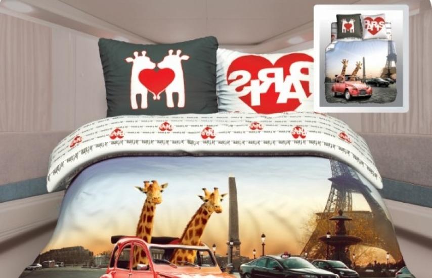 Фото - Постельное белье двуспальное Unison Любовь в Париже купить в киеве на подарок, цена, отзывы