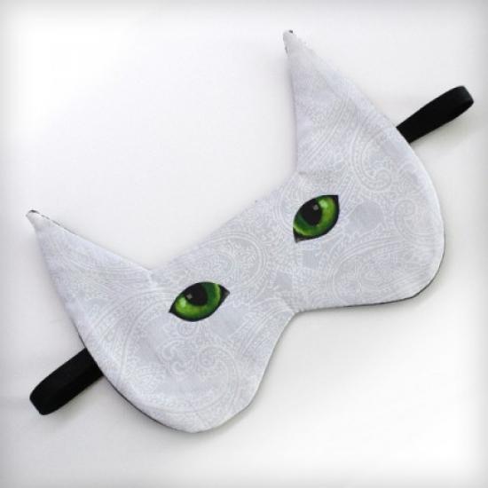 Фото - Маска для сна Кот зеленоглазый купить в киеве на подарок, цена, отзывы