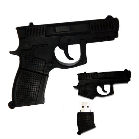 Фото - Флешка 16 Gb силиконовая Пистолет купить в киеве на подарок, цена, отзывы