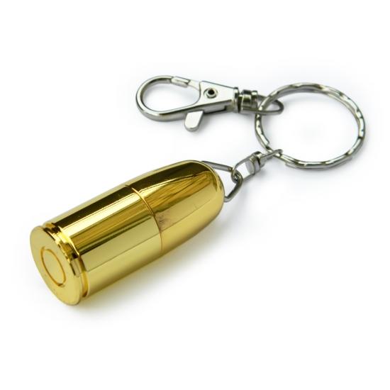 Фото - Флешка 8 Gb металл Пуля овальная купить в киеве на подарок, цена, отзывы