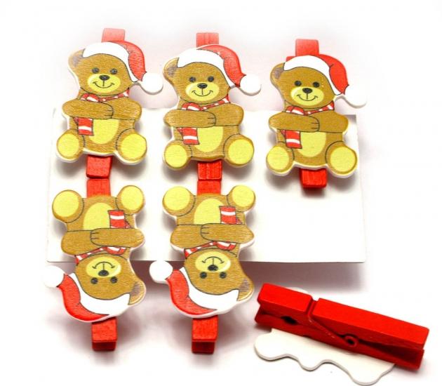 Фото - Прищепка - украшалка Мишки  купить в киеве на подарок, цена, отзывы