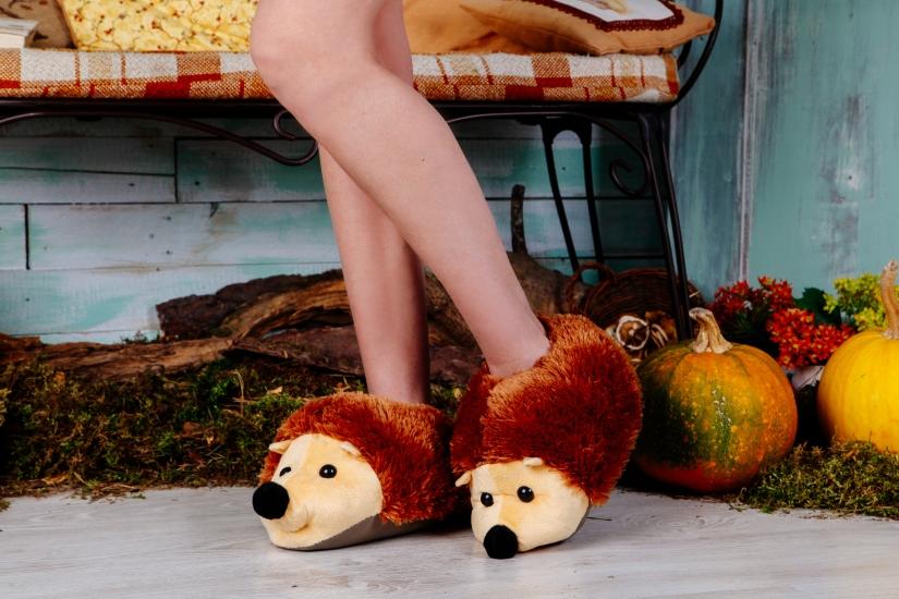 Фото - Домашние тапочки Ёжики купить в киеве на подарок, цена, отзывы