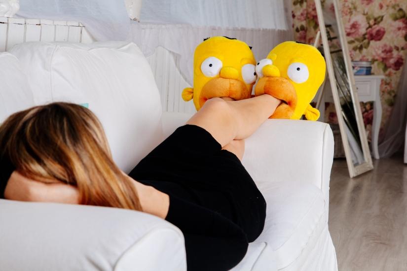 Фото - Домашние тапочки Гомер Симпсон купить в киеве на подарок, цена, отзывы