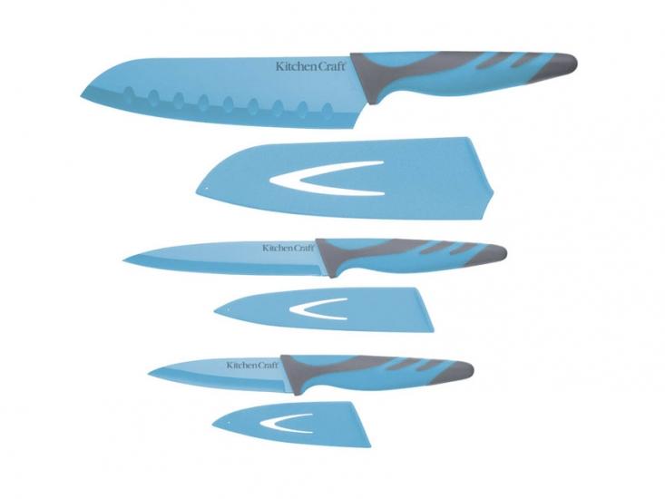 Фото - CW Набор ножей с ножнами и мягкой ручкой 3 единицы купить в киеве на подарок, цена, отзывы