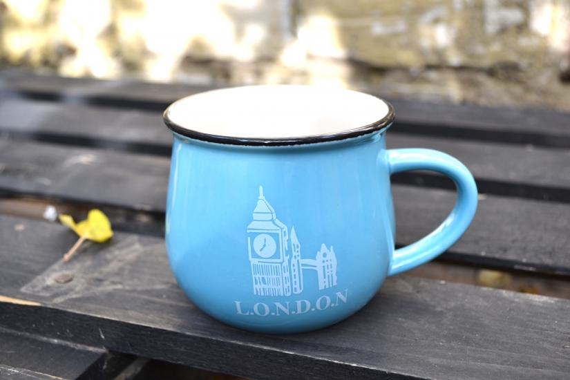 Фото - Чашка кувшин Голубая City Zakka  купить в киеве на подарок, цена, отзывы