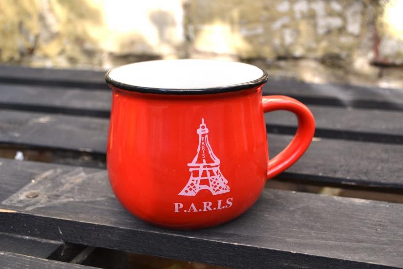 Фото - Чашка кувшин Красная City Zakka  купить в киеве на подарок, цена, отзывы