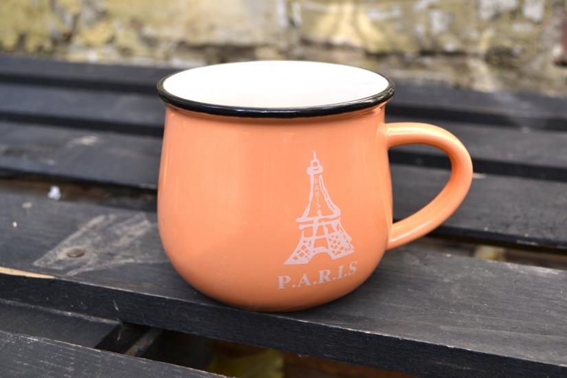 Фото - Чашка кувшин Персиковая City Zakka  купить в киеве на подарок, цена, отзывы