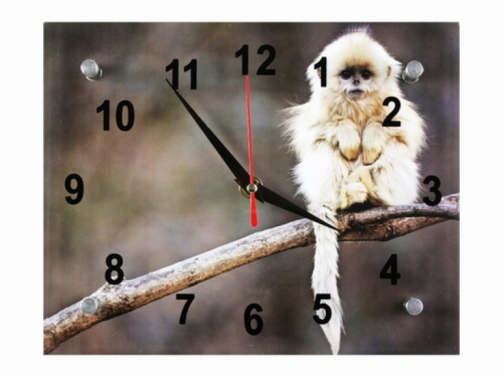 Фото - Подарочные часы Обезьянка-пушистик купить в киеве на подарок, цена, отзывы