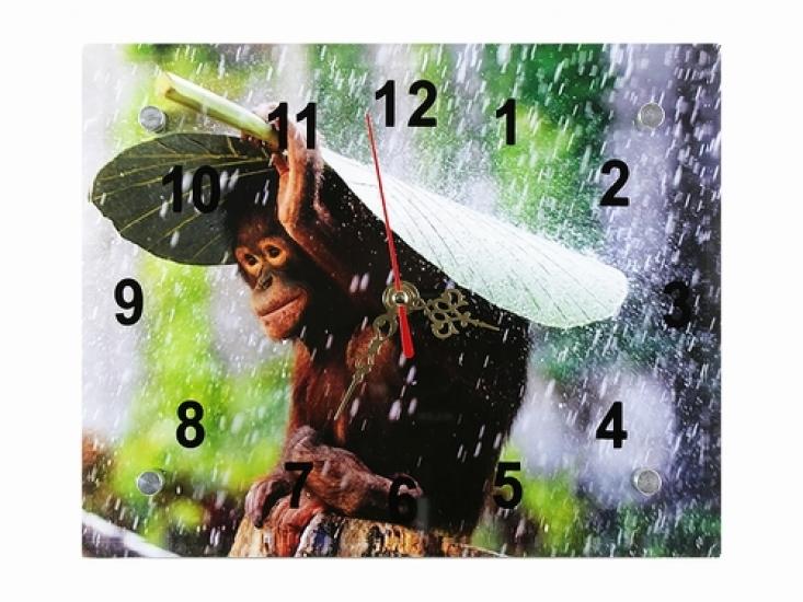 Фото - Подарочные часы Обезьянка под листиком купить в киеве на подарок, цена, отзывы