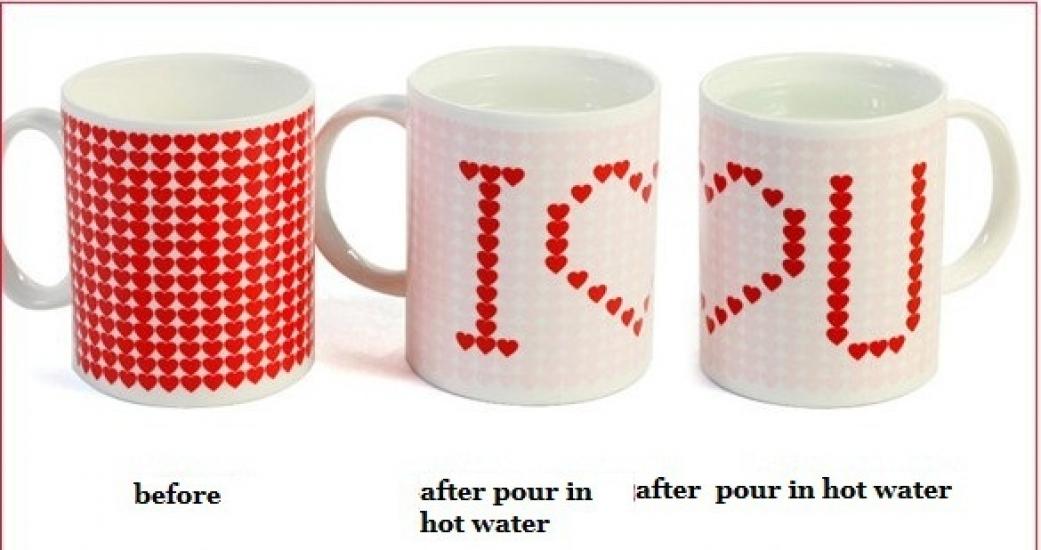 Фото - Чашка хамелеон I Love You купить в киеве на подарок, цена, отзывы