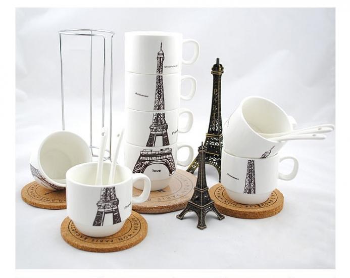 Фото - Набор чашек Париж 26 см купить в киеве на подарок, цена, отзывы