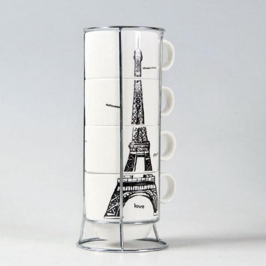 Фото - Набор чашек Париж 21 см купить в киеве на подарок, цена, отзывы