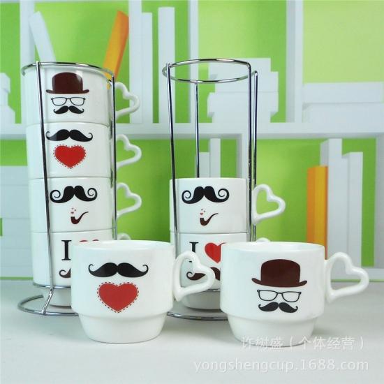 Фото - Набор чашек Я люблю усы купить в киеве на подарок, цена, отзывы