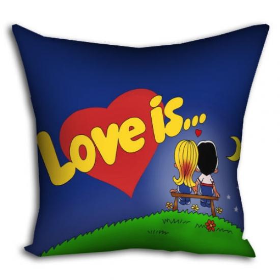 Фото - Подушка Love is... 30х30 см купить в киеве на подарок, цена, отзывы