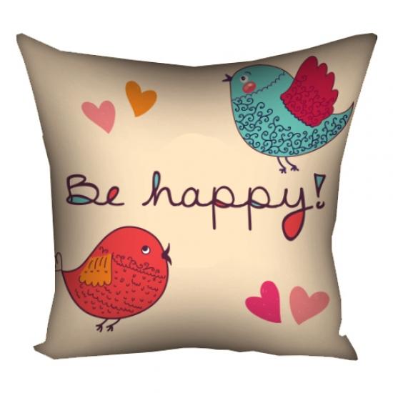 Фото - Подушка Be happy 30х30 см купить в киеве на подарок, цена, отзывы