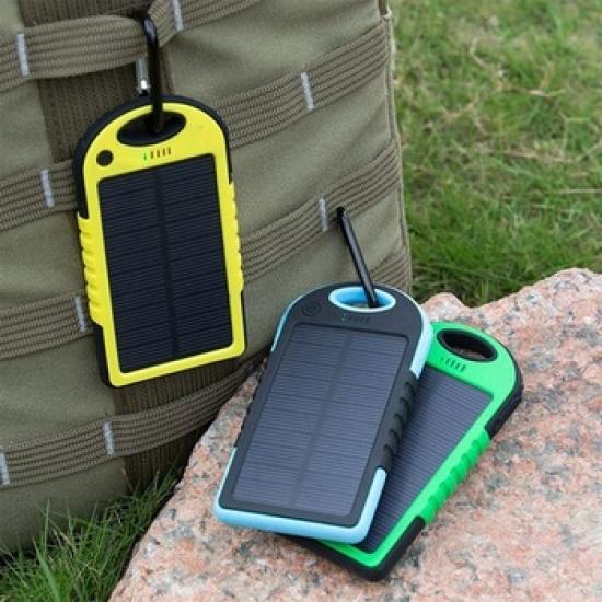 Фото - Мобильная зарядка Power Bank на солнечной батарее  купить в киеве на подарок, цена, отзывы