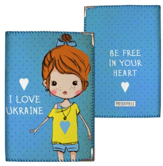 Фото - Обложка на паспорт I love Ukraine купить в киеве на подарок, цена, отзывы
