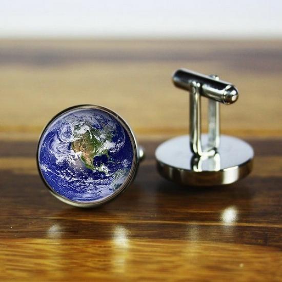Фото - Запонки Земля купить в киеве на подарок, цена, отзывы