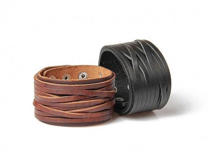 Фото - Кожаный браслет на кнопках купить в киеве на подарок, цена, отзывы