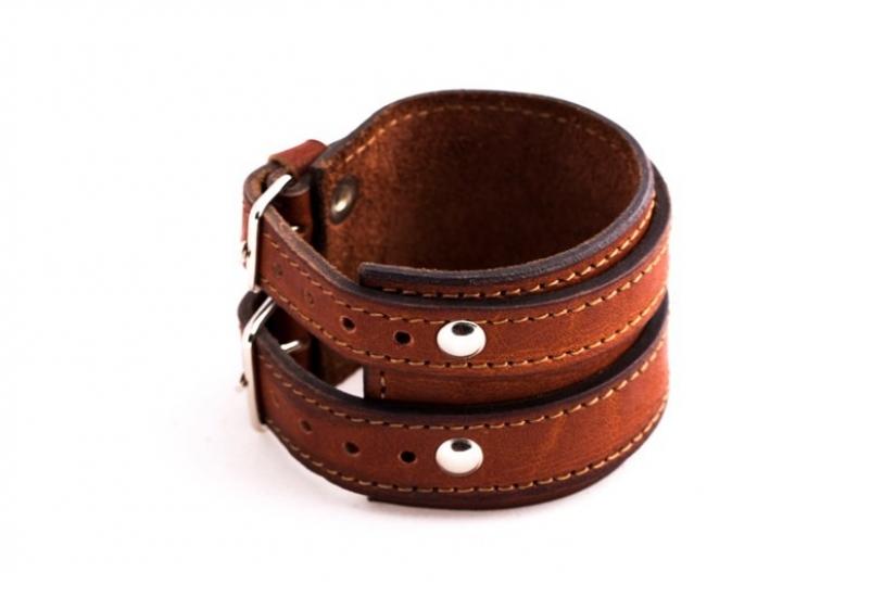 Фото - Антический кожаный браслет Basil купить в киеве на подарок, цена, отзывы