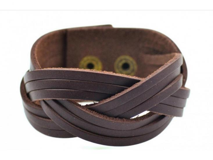 Фото - Антический кожаный браслет Benedict купить в киеве на подарок, цена, отзывы