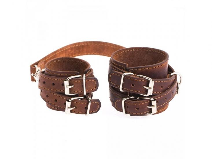Фото - Кожаный браслет для пар коричневый купить в киеве на подарок, цена, отзывы