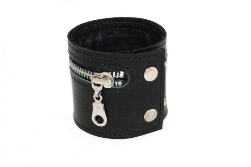 Фото - Кожаный браслет Zipper купить в киеве на подарок, цена, отзывы
