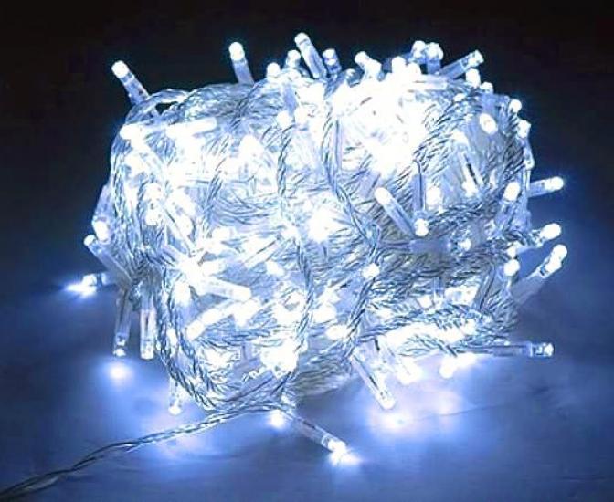 Фото - Гирлянда светодиодная LED 100 белая купить в киеве на подарок, цена, отзывы