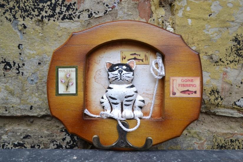 Фото - Ключница Кот рыбак купить в киеве на подарок, цена, отзывы