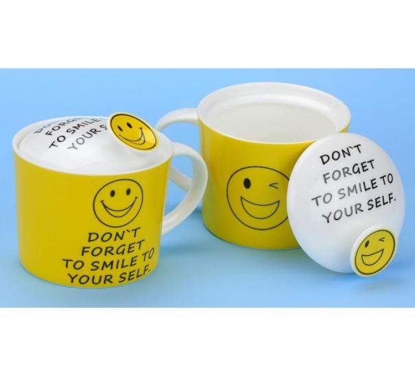 Фото - Кружка Dont forget to smile с крышкой купить в киеве на подарок, цена, отзывы