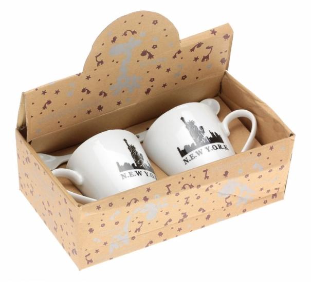 Фото - Набор чашек NEW YORK купить в киеве на подарок, цена, отзывы
