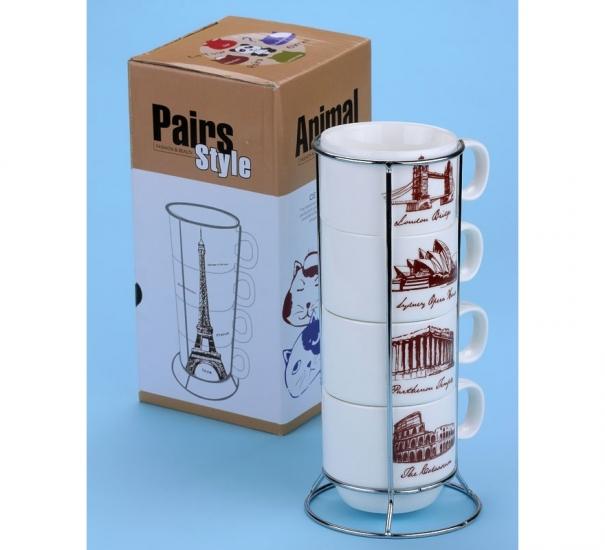 Фото - Набор чашек Колизей купить в киеве на подарок, цена, отзывы