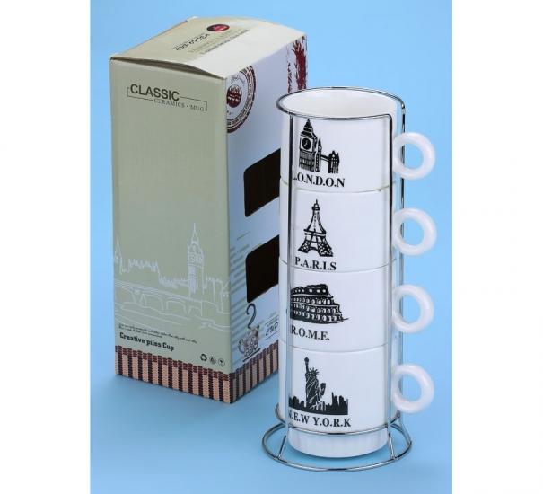 Фото - Набор чашек Best city 26 см купить в киеве на подарок, цена, отзывы