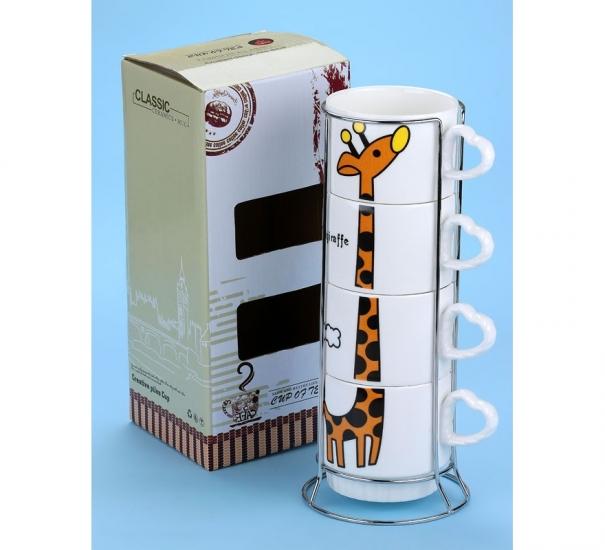 Фото - Набор чашек Жираф 26 см купить в киеве на подарок, цена, отзывы
