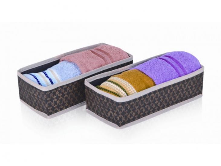 Фото - Набор коричневых органайзеров для хранения вещей купить в киеве на подарок, цена, отзывы