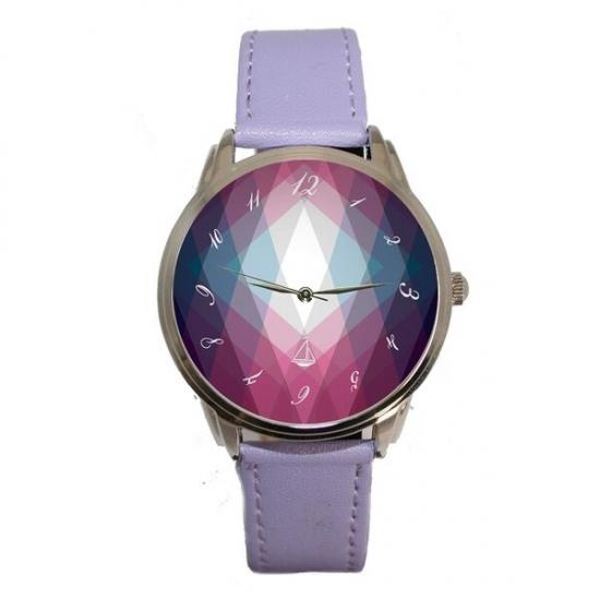 Фото - Часы Фиолетовые ромбы купить в киеве на подарок, цена, отзывы