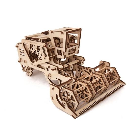 Фото - Механический 3D пазл Комбайн купить в киеве на подарок, цена, отзывы
