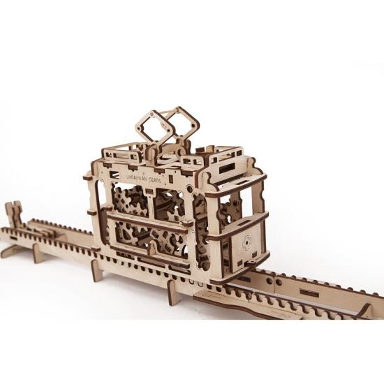 Фото - Механический 3D пазл Трамвайчик купить в киеве на подарок, цена, отзывы