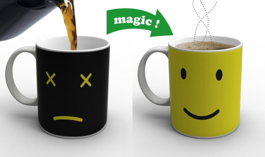 Фото - Чашка хамелеон Smile купить в киеве на подарок, цена, отзывы