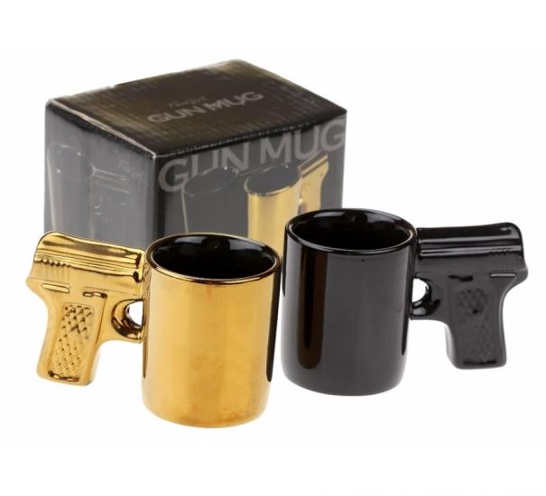 Фото - Набор чашек пистолет маленькие 2 шт 50 гр купить в киеве на подарок, цена, отзывы