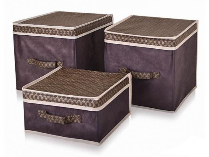 Фото - Короб для хранения вещей коричневый 30х30х16 купить в киеве на подарок, цена, отзывы