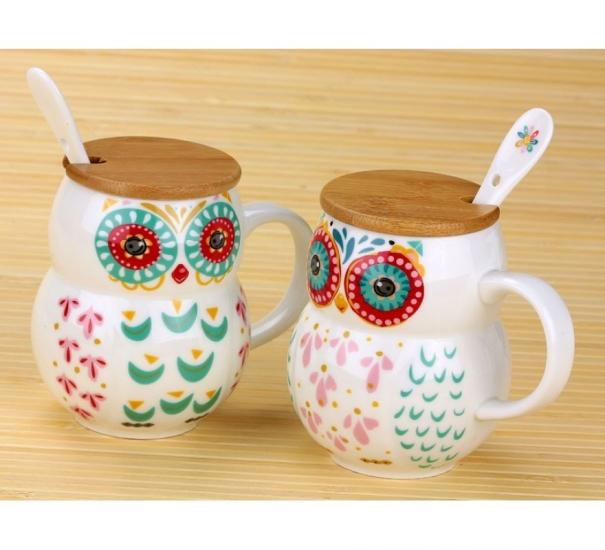 Фото - Чашка Сова 400 мл купить в киеве на подарок, цена, отзывы